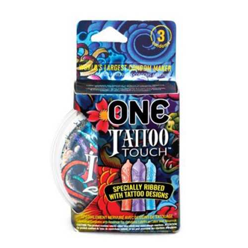 ONE Tattoo Touch Condom 3pk