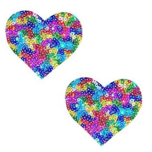 Neva Nude Pasty Heart Rainbow