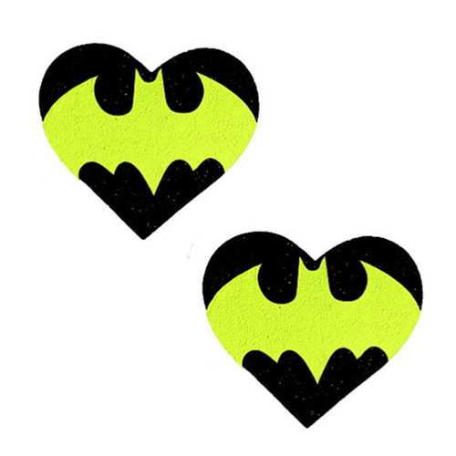 Neva Nude Pasty Heart Bat Signal Glit Bk