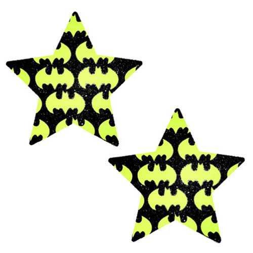 Neva Nude Pasty Star Bat Signal Glit Bk
