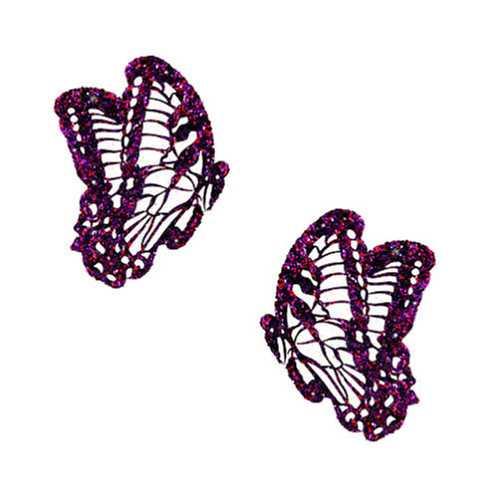 Neva Nude Pasty Butterfly Glitter Purple