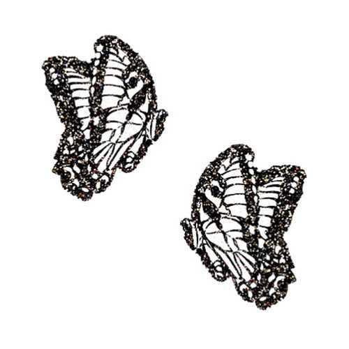 Neva Nude Pasty Butterfly Glitter Black