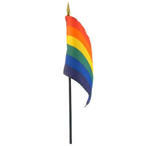 GS Rainbow Stick Flag 4in x 6in
