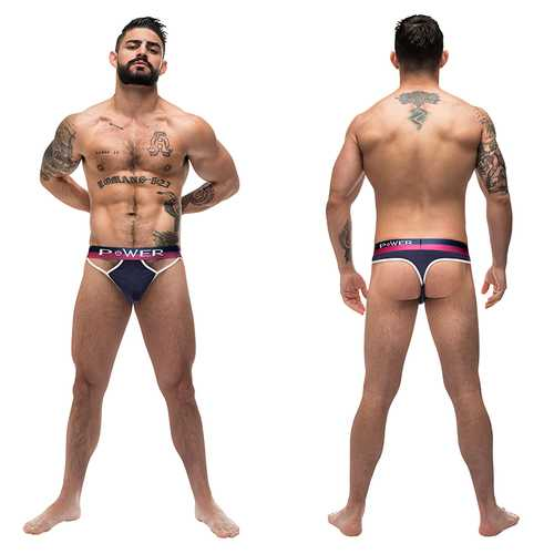 MP French Terry Cutout Thong Navy S/M