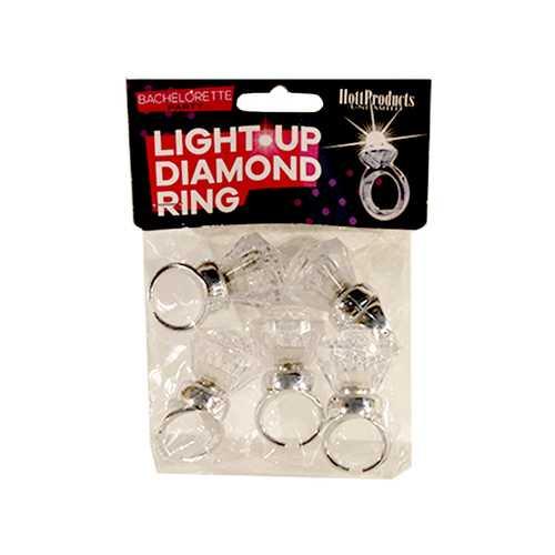 Light Up Diamond Ring (5pk)