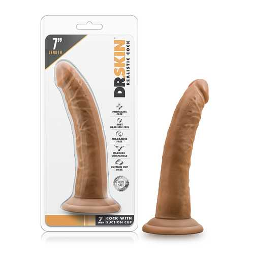 Dr. Skin - 7in Cock w/Suc Cup Mocha