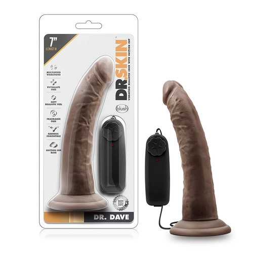 Dr. Skin - Dr. Dave 7in Vib Cock Choc