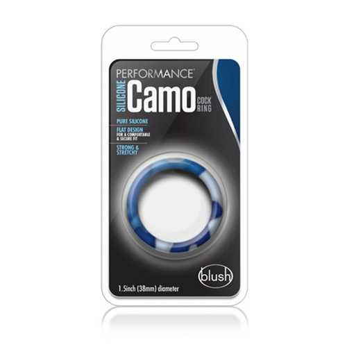 Performance - Sili Camo Cock Ring Blue