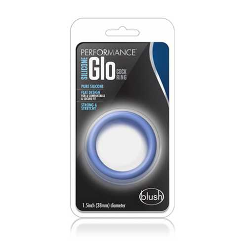 Performance - Sili Glo Cock Ring - Blue