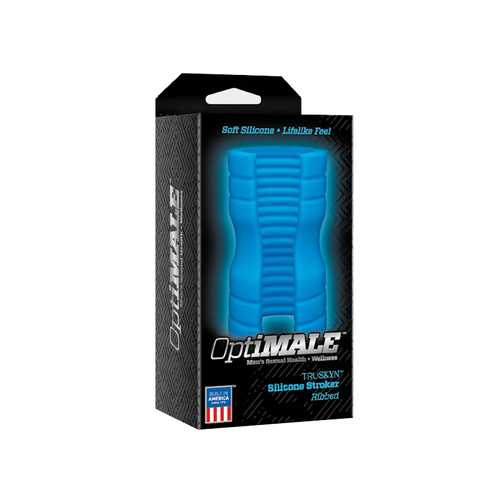 OptiMALE TRUSKYN Sili Stroker Ribbed Blu