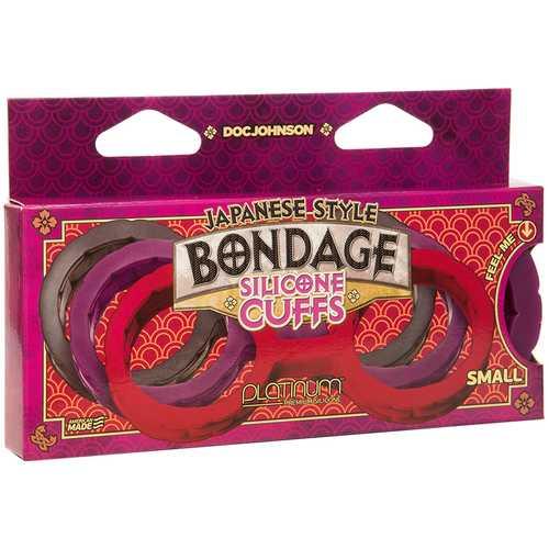 Japanese Bondage Silicone Cuffs Sm Pur