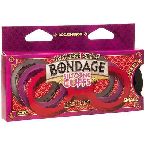 Japanese Bondage Silicone Cuffs Sm Black