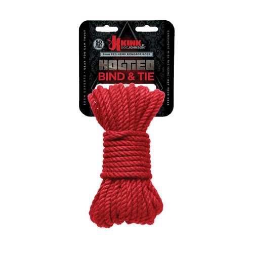 KINK Hogtied Bind&Tie Hemp Rope 50Ft Red