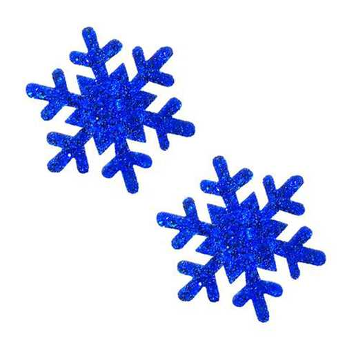 Neva Nude Pasty Snowflake Glitter Blue