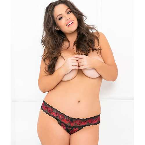 Crotchless Thong Red 3X/4X