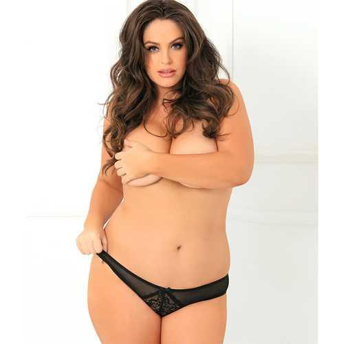 Miss Behavior Crotchless Panty Black 3X/