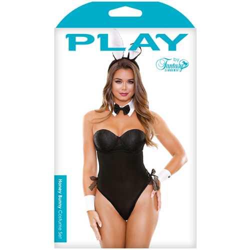 Play Honey Bunny Costume Set Black S/M