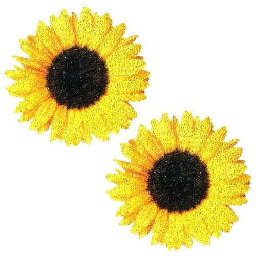 Neva Nude Pasty Sunflower Glitter Velvet