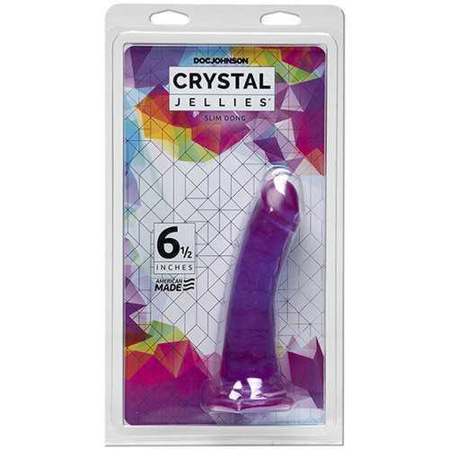 Crystal Jellies 6.5in Slim Dong Purple