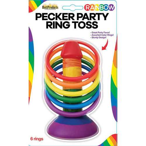 Rainbow Pecker Party Ring Toss