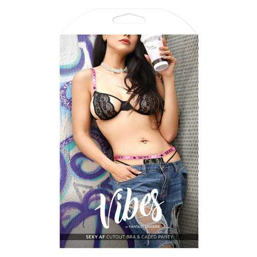 Vibes Sexy AF Cutout Bra & Panty LXL