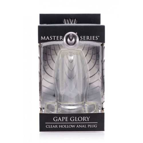 Masters Gape Glory Clear Hollow Plug