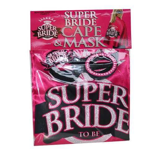 Super Bride, Cape And Mask Set
