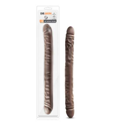 Dr. Skin - 18in Double Dildo - Chocolate