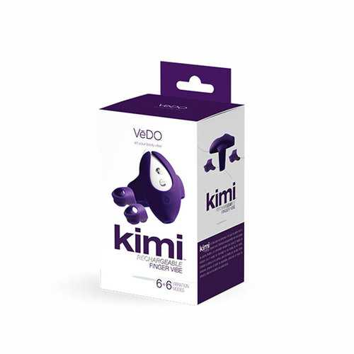 VeDO Kimi Rechg Dual Fngr Vibe w/RC Purp