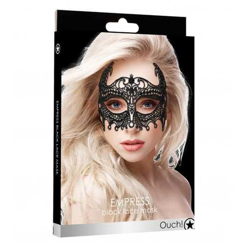 Ouch! Empress Black Lace Mask  - Black