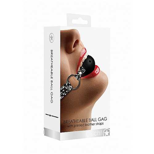 Ouch! Breathable Ball Gag Love St Blk