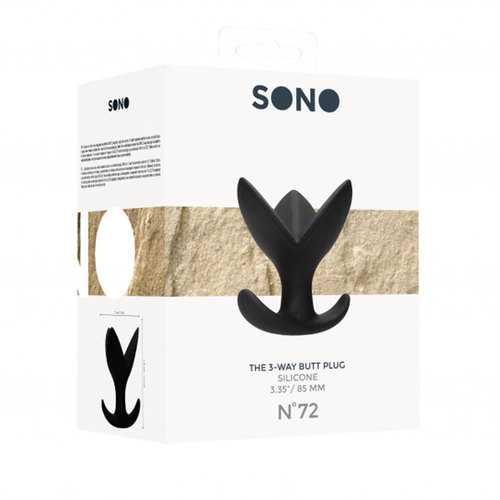 Sono No. 72 - The 3-Way Butt Plug - Blk