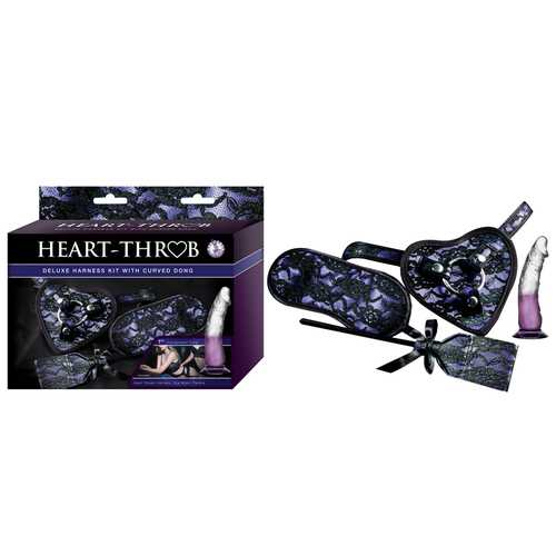 Heart-On Harness Kit W/Curved Dong Purpl