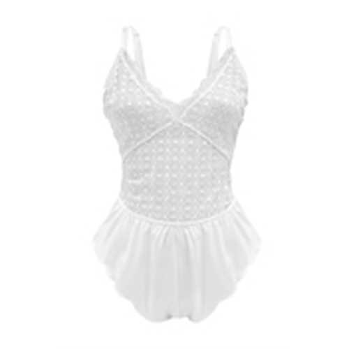 NEELY LACE ROMPER 1X WHITE