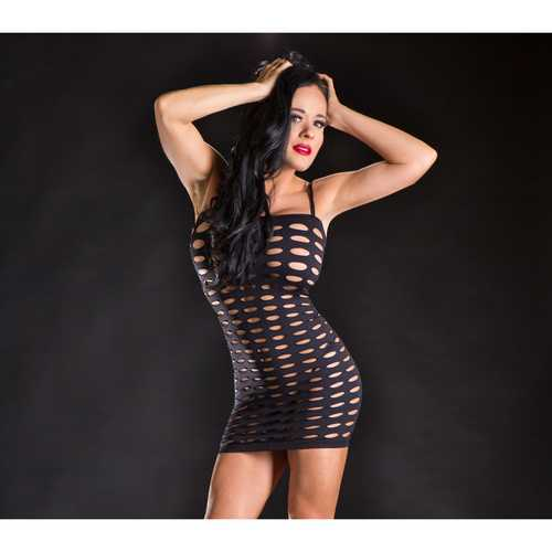 Beverly Hills Spaghetty String Dress Blk