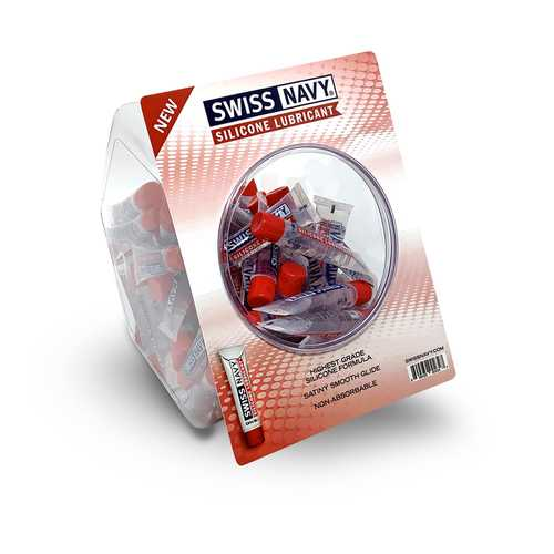 Swiss Navy Silicone 10ml Fishbowl 100ct