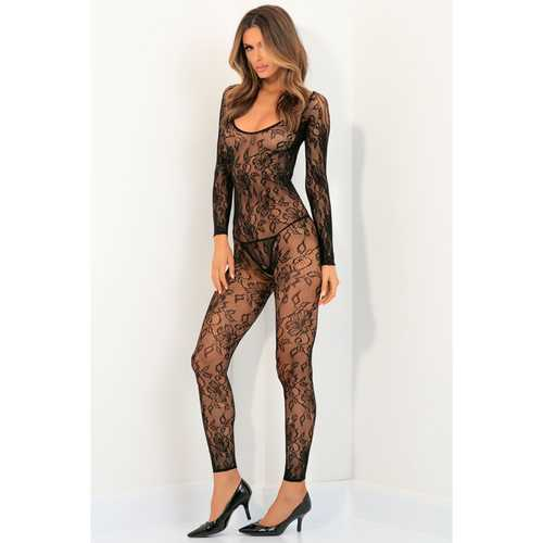 Body Up Crotchles Bodystocking Black M/L