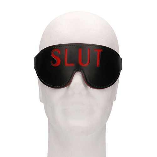 Ouch! Blindfold - SLUT - Black