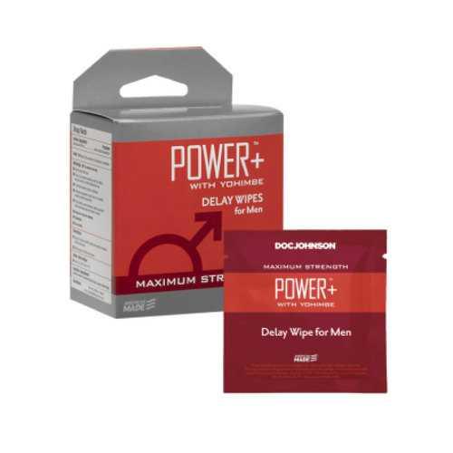 Power+/Yohimbe Delay Wipes/Men 10Pk