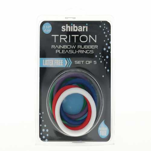 Triton Rainbow Rubber CR 5pk asst