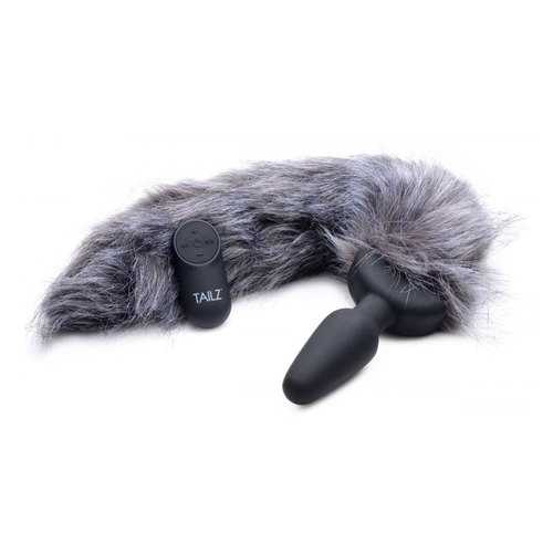 TZ Vibrating Gray Fox Tail