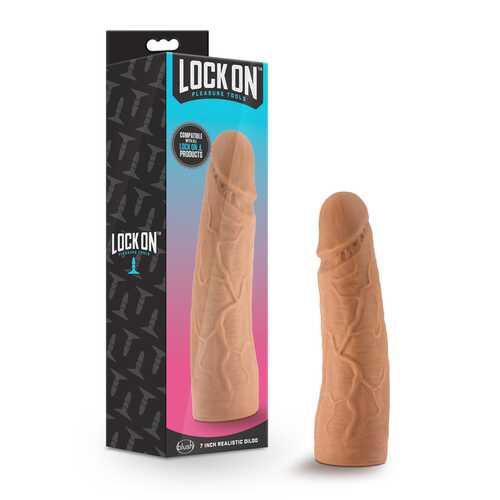 Lock On 7in Realistic Lock On Dildo Moch