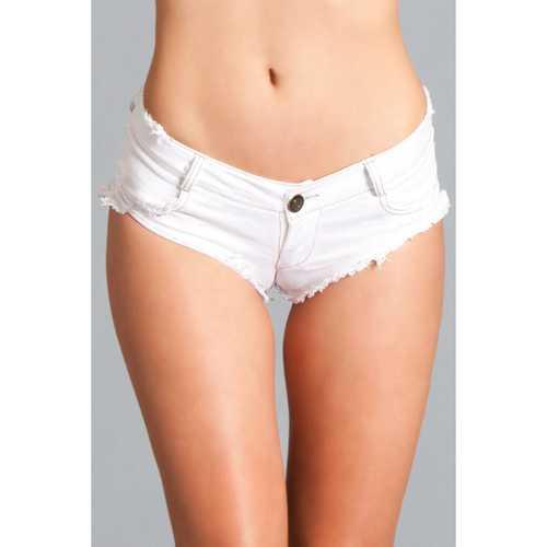 Denim Shorts White Large