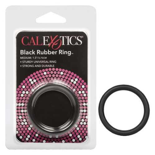 Black Rubber Cock Ring:Medium