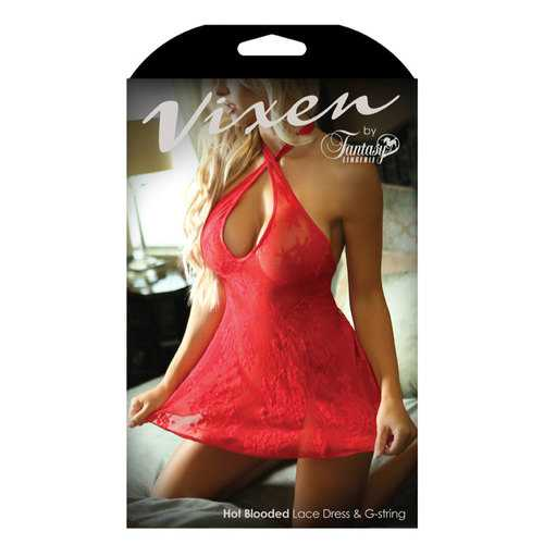 HOT BLOODED LACE DRESS & G-STRING