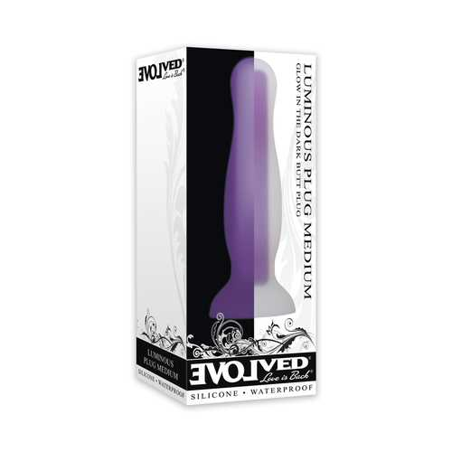 Evolved Luminous Silicone Plug Med Purpl