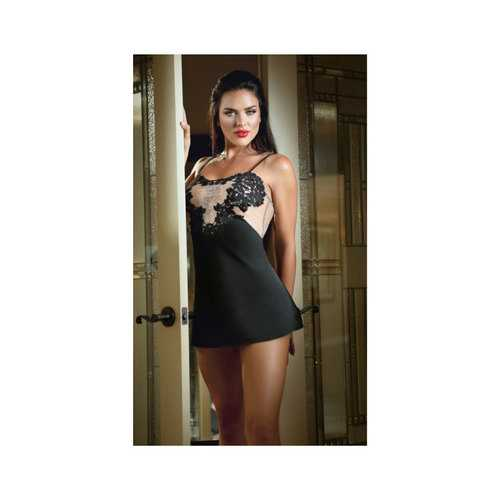 Satin Doll Slip Dress Black L/XL