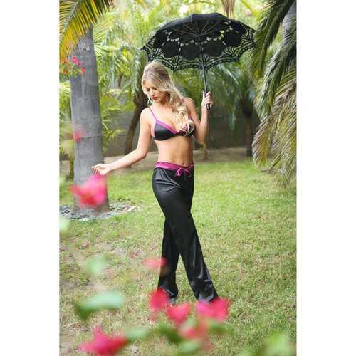 Lynn Bralette/Drawstring Pants Black S/M