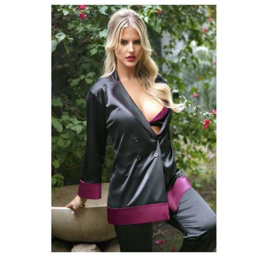 Majorie Cuff Satin Blazier Jacket L/XL