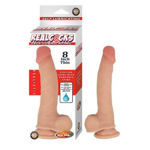 Realcocks Self Lubricating 8inThin-Flesh